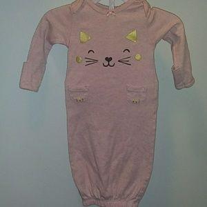 Carter's cat gown pajama